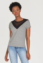 c(inch) - Colourblock T-shirt Black and Grey