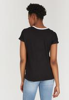 c(inch) - Colourblock T-shirt Black and White