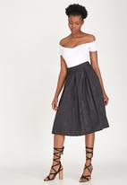 STYLE REPUBLIC - Volume Midi Skirt Black