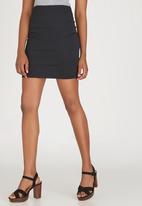 c(inch) - Basic Mini Skirt Black