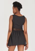 c(inch) - Lace Inset Tunic Black