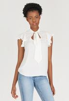 c(inch) - Kitty Bow Blouse Off White