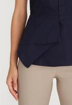 edit - Peplum Shirt Navy