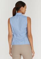 edit - Sleeveless Frill Shirt Pale Blue