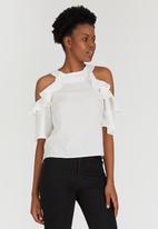 STYLE REPUBLIC - Cold Shoulder Blouse Off White