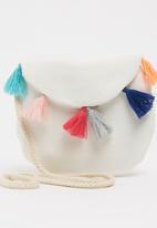 POP CANDY - Girls Tassel Hand Bag White