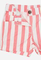 POP CANDY - Girls Stripe  Short Mid Pink