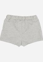 See-Saw - Lace Inset Short Grey Melange