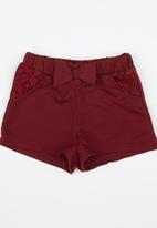 See-Saw - Lace Inset Short Dark Red