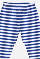 POP CANDY - Girls  Stripe Legging Blue