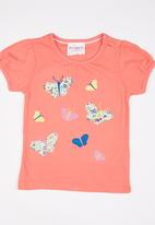 POP CANDY - Printed Tee Coral