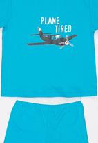 See-Saw - Plane Tired Pj Set Blue