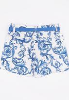 POP CANDY - Girls Printed    Short Blue