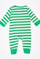 POP CANDY - Boys Stripe Romper Green