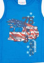 POP CANDY - Printed  Vest Mid Blue