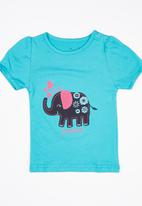 POP CANDY - Girls Printed Tee Turquoise