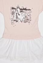 POP CANDY - Printed Dress Pale Pink