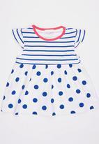 POP CANDY - Printed Polka Dot Stripe Dress Multi-colour
