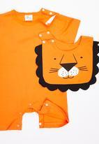POP CANDY - Printed Romper Orange