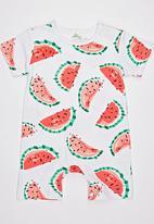 POP CANDY - Printed Watermelon Bodysuit  White