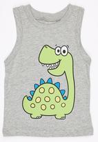 POP CANDY - Printed Dinosour  Vest Grey