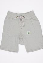 See-Saw - Applique Shorts Grey