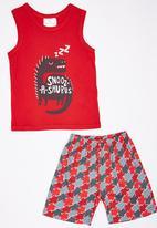 See-Saw - Vest and Short Pyjama Set Red