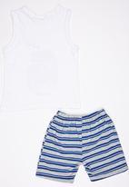 See-Saw - Vest and Short Pyjama Set White