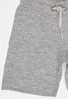 Rebel Republic - Shorts with front cutlines Grey
