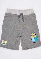POP CANDY - Printed Fleece  Shorts Grey