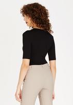 edit - Wrap Bodysuit Black