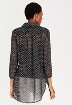 edit Maternity - Longer Length Chiffon Shirt Grey