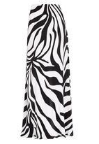 Gert-Johan Coetzee - Zebra Print Maxi Skirt Black and White