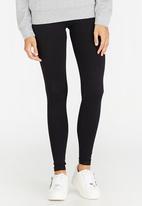 c(inch) - Plain Leggings Black