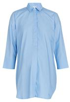 edit Maternity - Longer Length Shirt Pale Blue