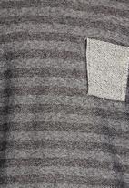 Rebel Republic - Sweater with Pocket Dark Grey