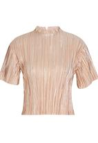 STYLE REPUBLIC - High Neck Blouse Mid Pink