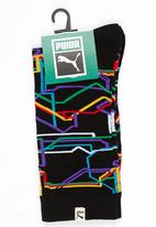 PUMA - Puma Single Graphic Anklet Socks Black and White