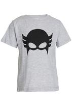 See-Saw - Superhero Tee with Cape Grey