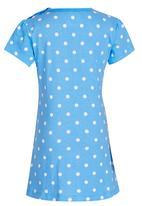POP CANDY - Printed Dress Mid Blue