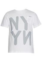 Rebel Republic - Printed T-shirt White