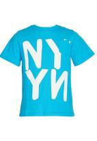 Rebel Republic - Printed T-shirt Blue