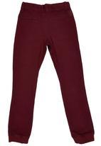 GUESS - Skinny Fashion Jogger Dark Red