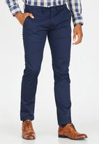 POLO - Milano stretch straight leg chino - navy