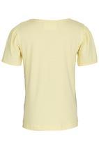 See-Saw - Printed Puff Sleeve Tee Yellow