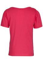 See-Saw - Printed Puff Sleeve Tee Mid Pink