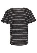 See-Saw - Striped Tee Dark Grey