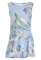 See-Saw - Asymmetrical Tier Dress Multi-colour