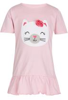 POP CANDY - Girls  Printed Kitty Dress Mid Pink