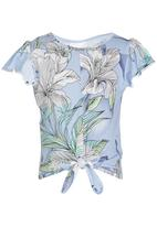 See-Saw - Front Tie Top Multi-colour
